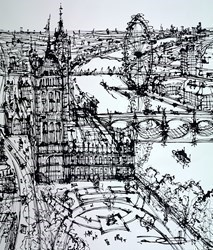 Above Victoria Tower Gardens by Ingo -  sized 35x43 inches. Available from Whitewall Galleries